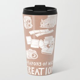 Weapons Of Mass Creation - Photography (white) Metal Travel Mug
