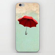 Red Umbrella iPhone Skin