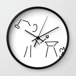 smith hufeisen amboss Wall Clock