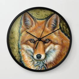 The Golden Fox Wall Clock