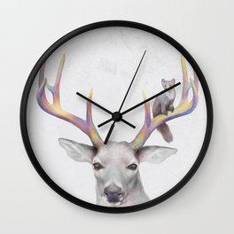 Deer & Marten Woodlan friends Wall Clock