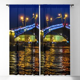 Raising bridges in St. Petersburg Blackout Curtain