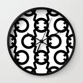 Q Pattern Wall Clock