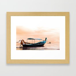 Long Boat Framed Art Print