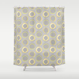 Solar Eclipse MCM Gray-Yellow Shower Curtain