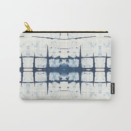 Faded Japanese Shibori Carry-All Pouch