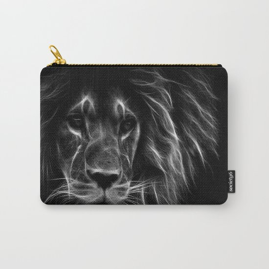 lion.  Black & White Carry-All Pouch