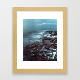Tidal Erosion Framed Art Print