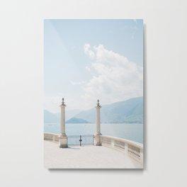 Summer at Bellagio   Italy travel photography   Bright art print Metal Print