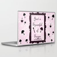 mary poppins Laptop & iPad Skins featuring Mary Poppins Spoonful of Sugar by Whimsy and Nonsense