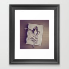 Sketched Framed Art Print