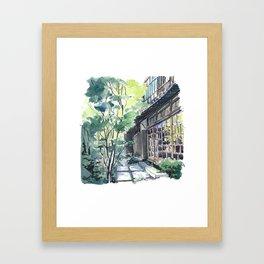 Shaded Alley Framed Art Print