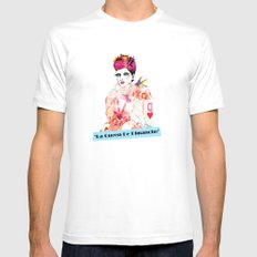 La Queen De Dimanche / The Queen of Sunday Mens Fitted Tee MEDIUM White