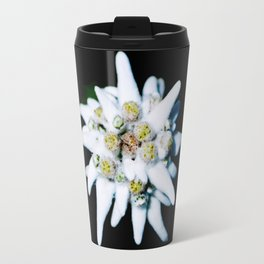 Single isolated Edelweiss flower bloom Travel Mug