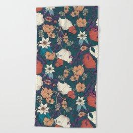Botanical pattern 008 Beach Towel