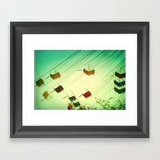 Fly around Framed Art Print