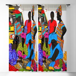 african market 1 Blackout Curtain