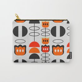 Mid century floral Carry-All Pouch