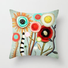 The days blur into one moment Throw Pillow