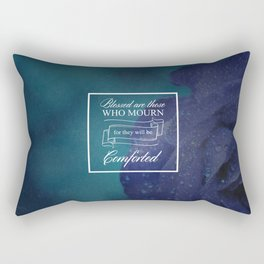 Blessed Are Those Who Mourn - Matthew 5:4 Rectangular Pillow