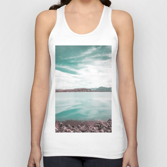 Green Lake #reflections Unisex Tank Top
