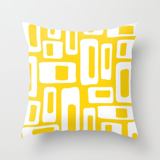 Retro Mid Century Modern Abstract Pattern 335 Yellow by tonymagner