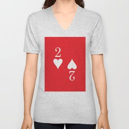 Two Of Hearts Graphic Unisex V-Neck