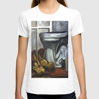 toilet T-shirts featuring Boots and toilet by spiderdave7