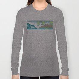 Ala Moana Diamond Head Hawaiian Surf Sign Long Sleeve T-shirt