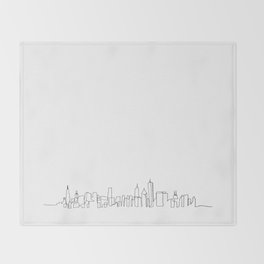 Chicago Skyline Drawing Throw Blanket