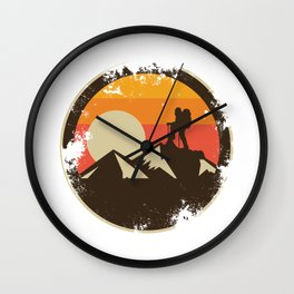 Vintage Rock Climbing - Mountain Climbing Wall Clock