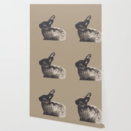 Little Rabbit on Sepia #1 #decor #art #society6 Wallpaper