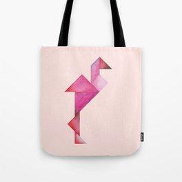 Tangram Flamingo Pink Tote Bag