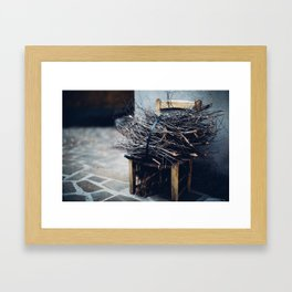 Bundle of twigs Framed Art Print