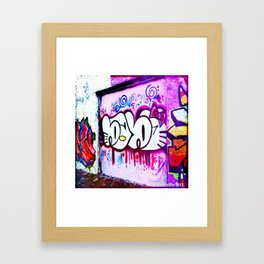 Kitty Kitty Graffiti West Philly Framed Art Print