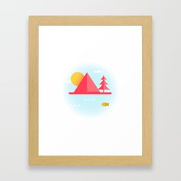 OCEAN TO SKY Framed Art Print