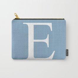 Letter E sign on placid blue color background Carry-All Pouch