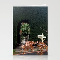 aelwen Stationery Cards featuring Behind the Gate by Chris' Landscape Images & Designs