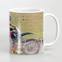 moto Mugs featuring Moto Cross by Lone Wolf Photography