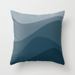 Abstract Color Waves - Blue Palette Throw Pillow