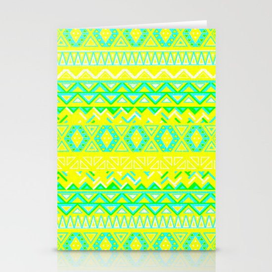 India Style Pattern (Neon) Stationery Cards