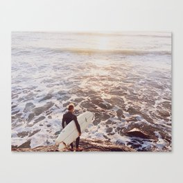 ready to surf Canvas Print