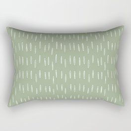 Raindrop Boho Abstract Pattern, Sage Green Rectangular Pillow