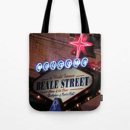 Beale Street, Memphis Tote Bag