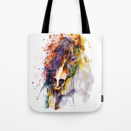 Abstract Horse Head Tote Bag