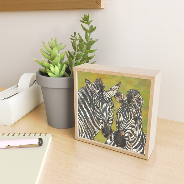 Zebras Framed Mini Art Print