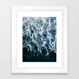 Minimalistic Veins in a Wave  - Seascape Photography Framed Art Print