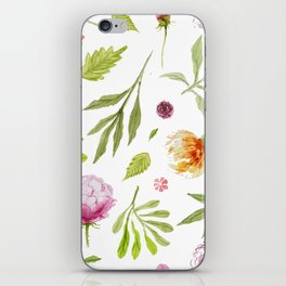 Watercolor floral vintage pattern iPhone Skin
