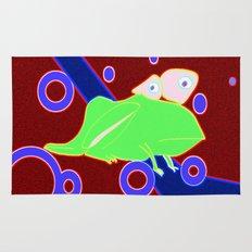 cosmic frog Rug