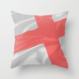 Silk Flag of Saint George Throw Pillow